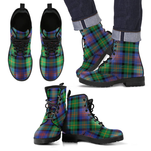 Logan Ancient Tartan Leather Boots Footwear Shoes