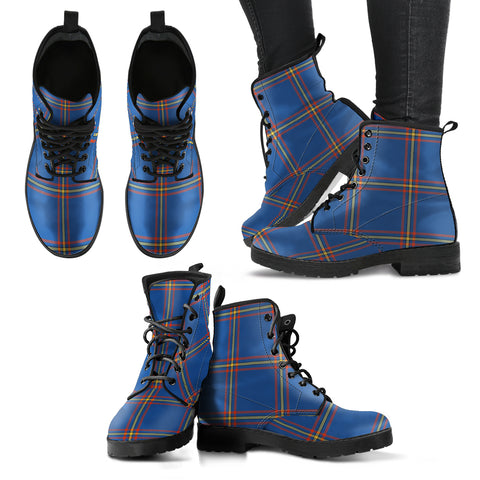 MacLaine of Loch Buie Hunting Ancient Tartan Leather Boots A9
