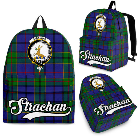Strachan Tartan Clan Backpack | Scottish Bag | Adults Backpacks & Bags
