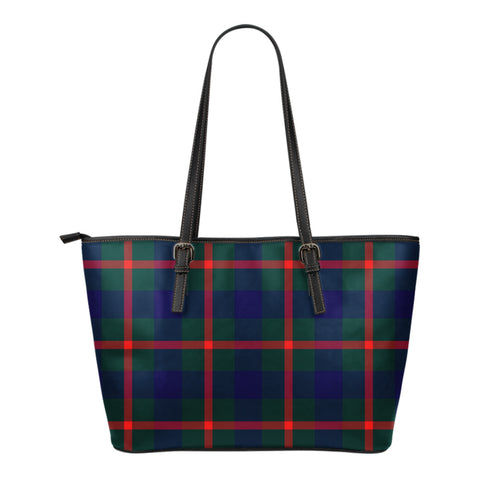 Agnew Modern Tartan Leather Tote Bag (Small) | Over 500 Tartans | Special Custom Design