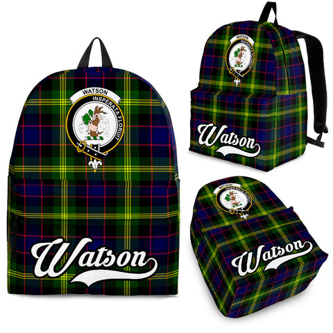 Watson Tartan Clan Backpack | Scottish Bag | Adults Backpacks & Bags