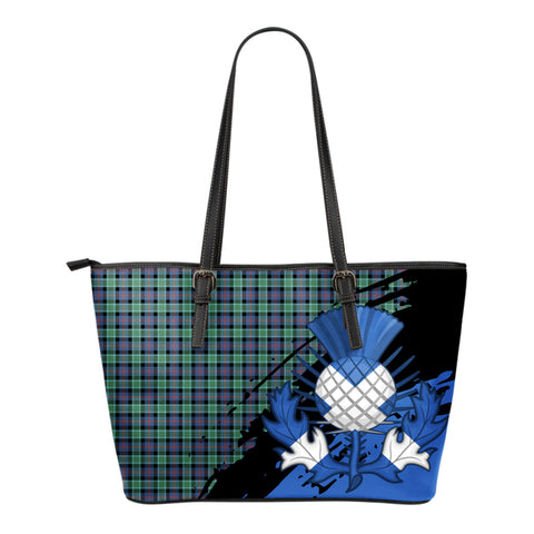 MacTaggart Ancient  Leather Tote Bag Small | Tartan Bags