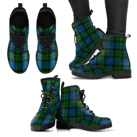 MacKay Modern Tartan Leather Boots A9