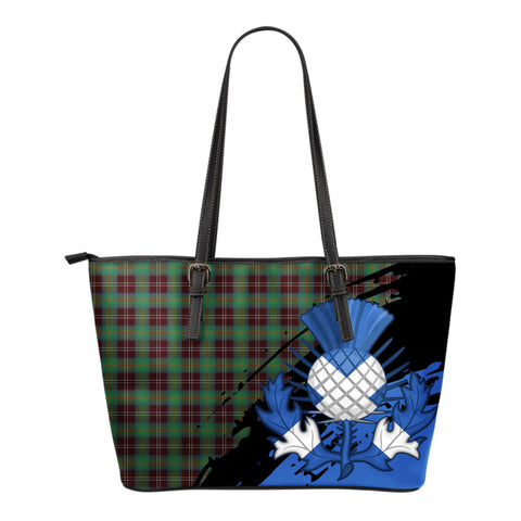 Chisholm Hunting Ancient Leather Tote Bag Small | Tartan Bags