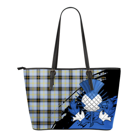 Bell of the Borders Leather Tote Bag Small | Tartan Bags