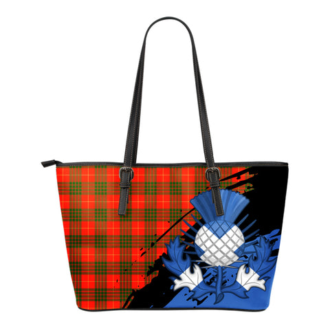 Cameron Modern Leather Tote Bag Small | Tartan Bags