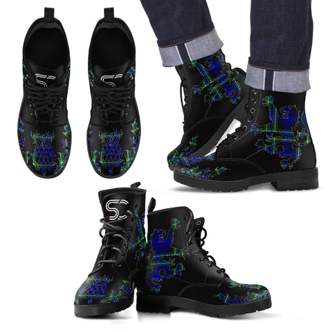 Arbuthnot Modern Tartan Leather Boots Lion And Thistle TH8