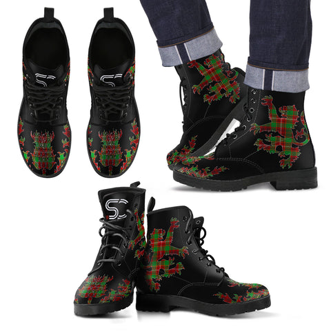 Ainslie Tartan Leather Boots Lion And Thistle TH8