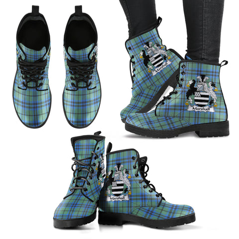 Marshall Tartan Clan Badge Leather Boots