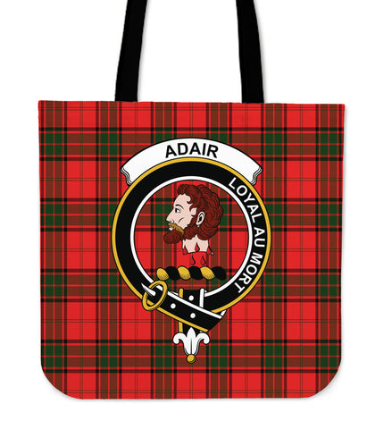 Tartan Tote Bag - Adair Clan Badge | Special Custom Design