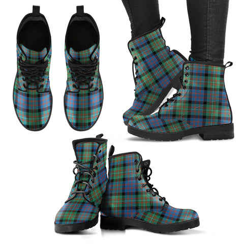 Image of MacDonnell of Glengarry Ancient Tartan Leather Boots A9