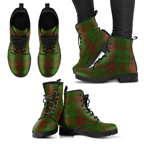 Maxwell Hunting Tartan Leather Boots A9