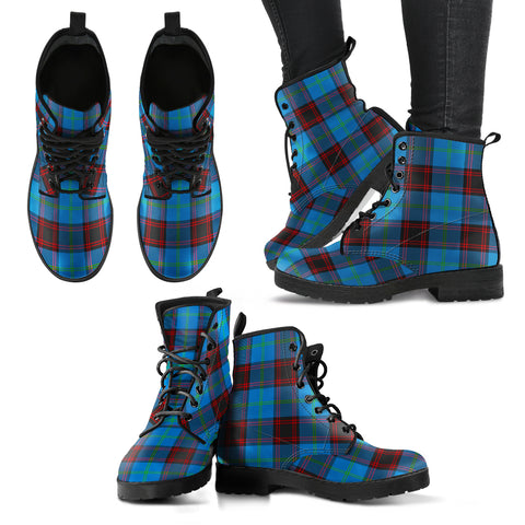 Home Ancient Tartan Leather Boots A9