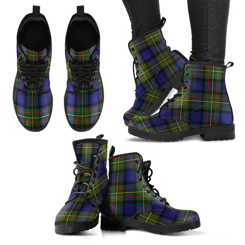 Image of MacLaren Modern Tartan Leather Boots A9