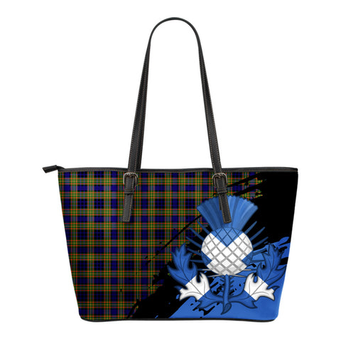 Clelland Modern Leather Tote Bag Small | Tartan Bags