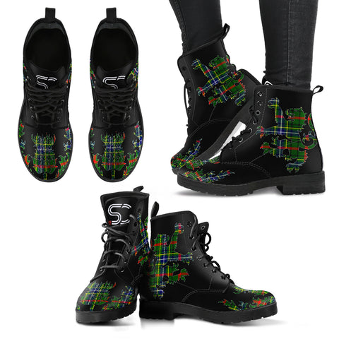 Bisset Tartan Leather Boots Lion And Thistle