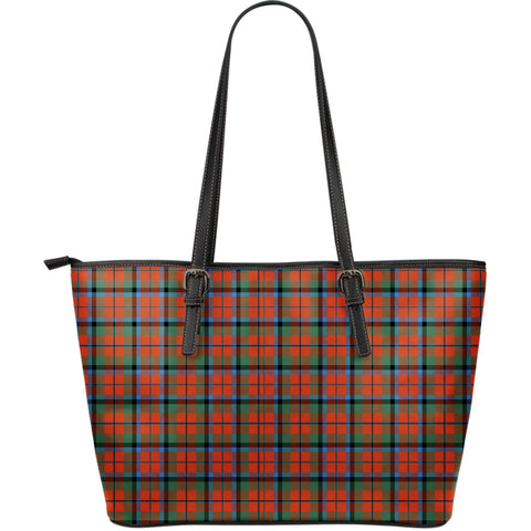 MacNaughton Ancient Tartan Leather Tote Bag (Large) | Over 500 Tartans | Special Custom Design