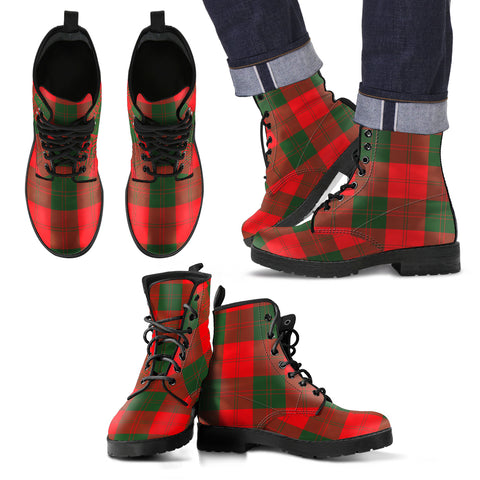 Erskine Modern Tartan Leather Boots Footwear Shoes