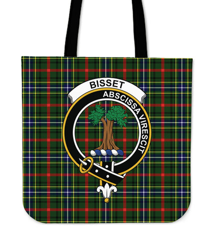 Tartan Tote Bag - Bisset Clan Badge | Special Custom Design