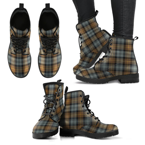 Gordon Weathered Tartan Leather Boots A9