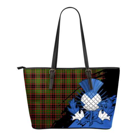 Buchan Modern Leather Tote Bag Small | Tartan Bags