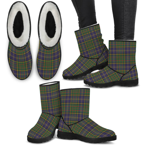 MacMillan Hunting Modern Tartan Faux Fur Boots Shoes Footwear