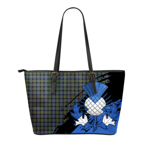 Cameron of Erracht Ancient Leather Tote Bag Small | Tartan Bags