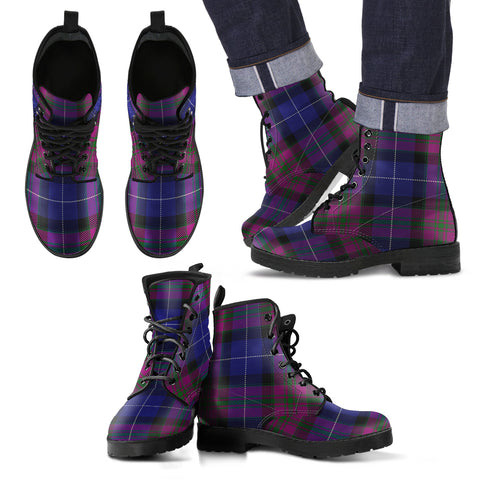 Pride of Scotland Tartan Leather Boots Footwear Shoes