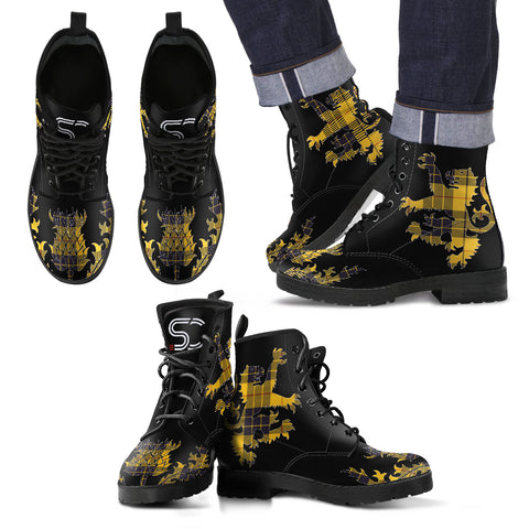 MacLeod of Lewis Ancient Tartan Leather Boots Lion And Thistle TH8