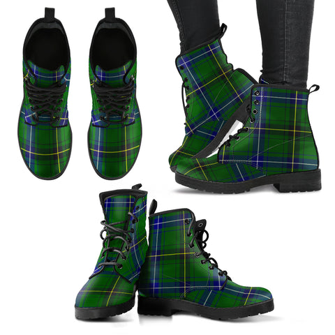 Henderson Modern Tartan Leather Boots