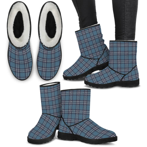 Earl of St Andrews Tartan Faux Fur Boots Shoes Footwear