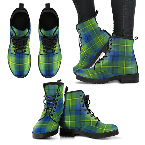 Johnston Ancient Tartan Leather Boots