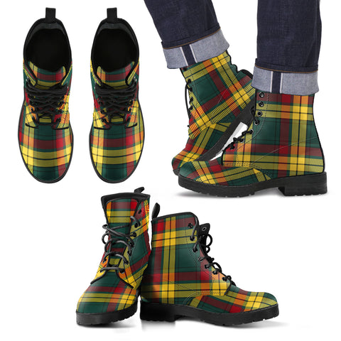 MacMillan Old Modern Tartan Leather Boots Footwear Shoes