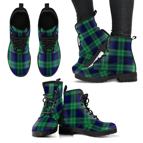 Abercrombie Tartan Leather Boots A9