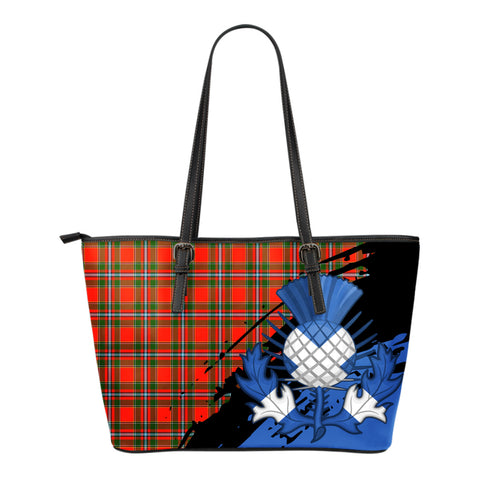 Drummond of Perth Leather Tote Bag Small | Tartan Bags