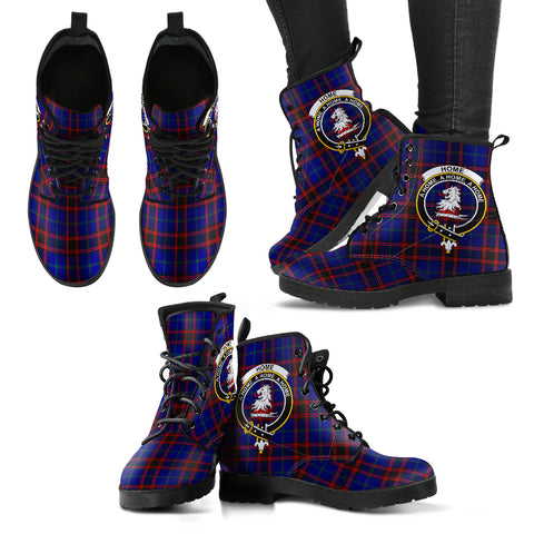 Home Modern Tartan Clan Badge Leather Boots A9