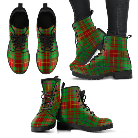 Fulton Tartan Leather Boots A9