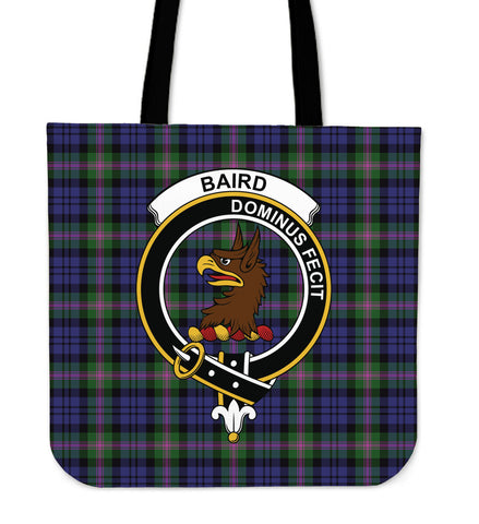 Tartan Tote Bag - Baird Modern Clan Badge | Special Custom Design