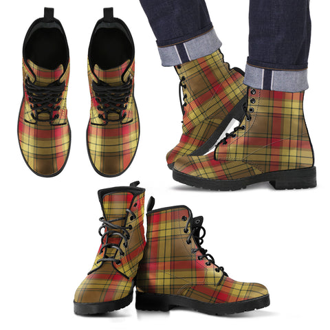MacMillan Old Weathered Tartan Leather Boots Footwear Shoes