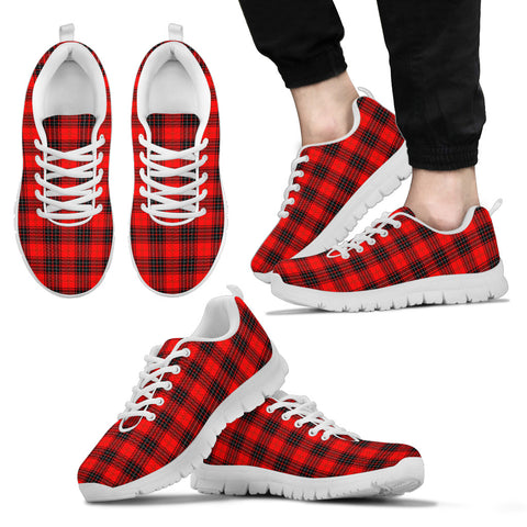 Wemyss Modern, Men's Sneakers, Tartan Sneakers, Clan Badge Tartan Sneakers, Shoes, Footwears, Scotland Shoes, Scottish Shoes, Clans Shoes