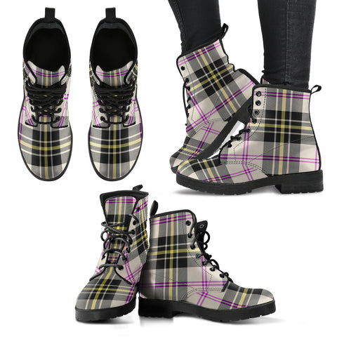 Image of MacPherson Dress Ancient Tartan Leather Boots A9