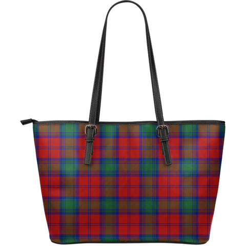 Lindsay Modern Tartan Leather Tote Bag (Large) | Over 500 Tartans | Special Custom Design