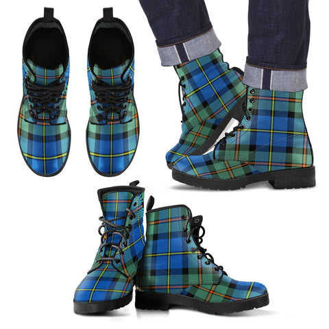 MacLeod of Harris Ancient Tartan Leather Boots Footwear Shoes