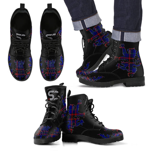 Home Modern Tartan Leather Boots Lion And Thistle TH8