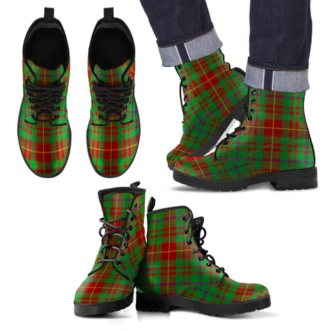 Image of Fulton Tartan Leather Boots Footwear Shoes