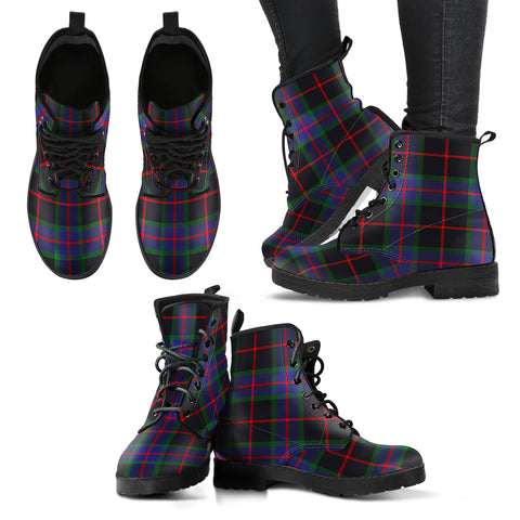 Nairn Tartan Leather Boots A9