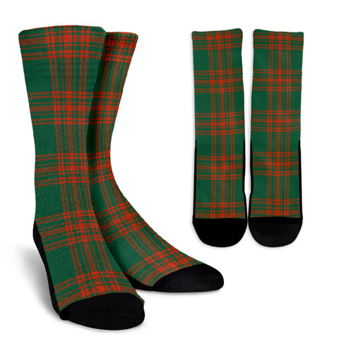 Menzies Green Ancient clans, Tartan Crew Socks, Tartan Socks, Scotland socks, scottish socks, christmas socks, xmas socks, gift socks, clan socks
