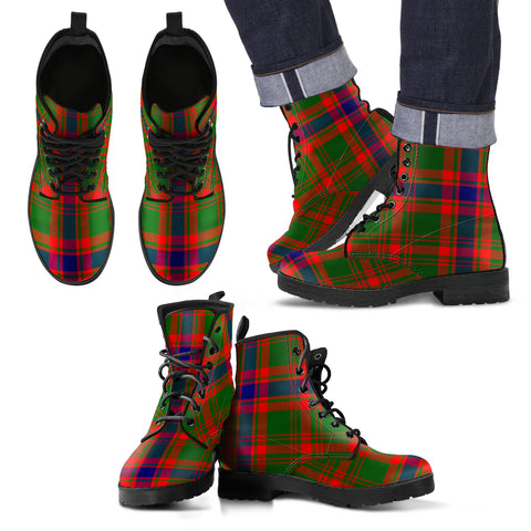 Nithsdale District Tartan Leather Boots Footwear Shoes