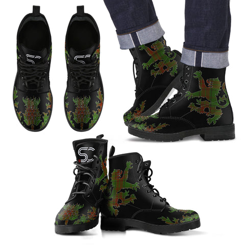 Maxwell Hunting Tartan Leather Boots Lion And Thistle TH8