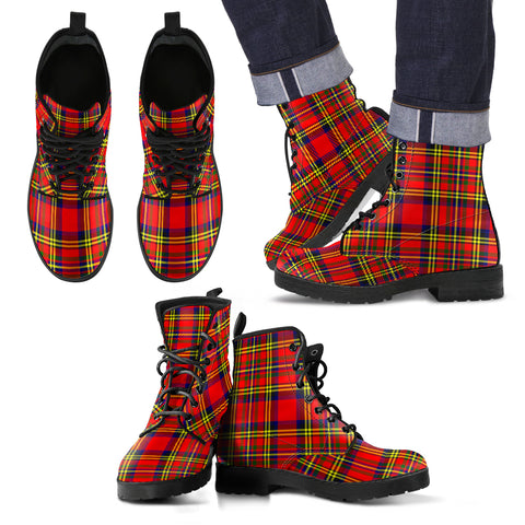 Image of Hepburn Tartan Leather Boots Footwear Shoes